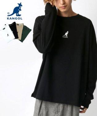 【KANGOL】カンゴール ビッグシルエット ミニロゴ刺繍 長袖Tシャツ