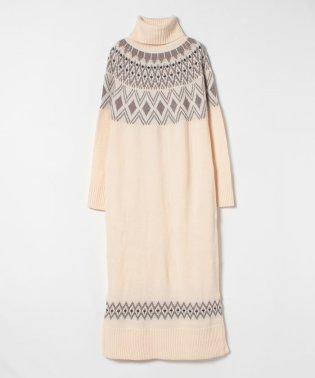 ノルディックニットドレス