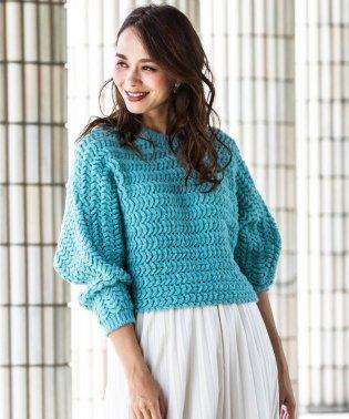 スケイル編みプルオーバー