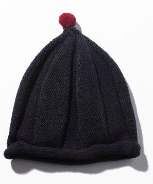 とんがりポンポンニット帽
