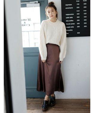 サテンAライン/スカート