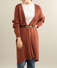 ロング丈柄編みカーディガン