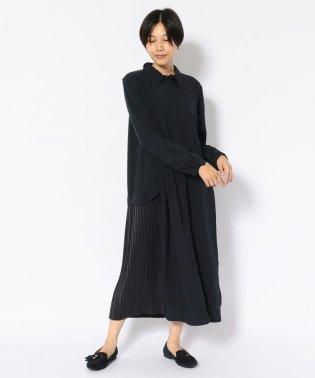 SUGAR ROSE/シュガーローズ/プリーツ切替ロングシャツ