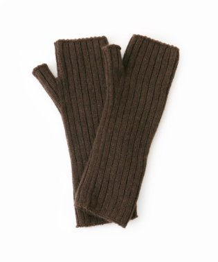 【Johnstons/ジョンストンズ】 RIBBED CASHMERE WRISTWARMWERS◆