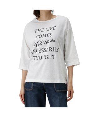 T-GRAPHICS ティーグラフィックス 七分袖 プリントTシャツ 90298NM