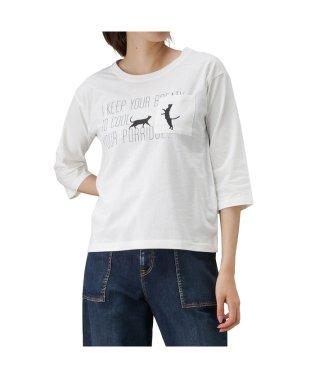 T-GRAPHICS ティーグラフィックス ポケット付き 七分袖 プリントTシャツ 90301NM