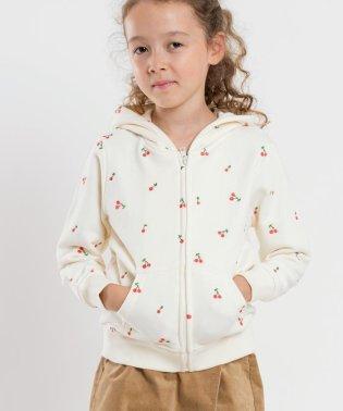 SHIPS KIDS:チェリー 刺繍 パーカー(100~130cm)