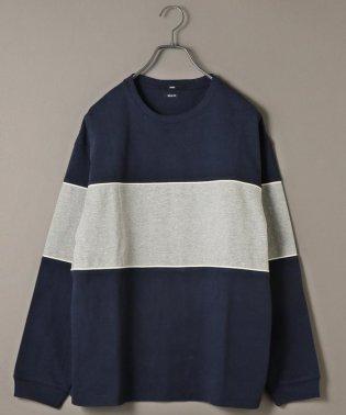 SU: ビッグ パネル ヘビーウエイト ロングスリーブ Tシャツ