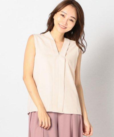 (MEW'S REFINED CLOTHES/ミューズ リファインド クローズ)Vネックノースリーブブラウス/レディース ベージュ