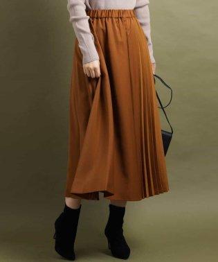 切替えプリーツスカート