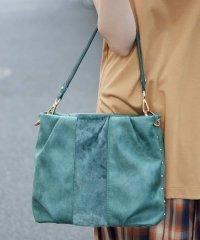【2WAY】エコファー切り替えデザインバッグ