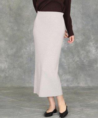 《YVON》リブタイトニットスカート