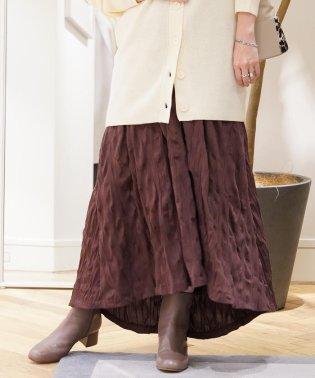 コットンポリエステルジャージー ギャザースカート