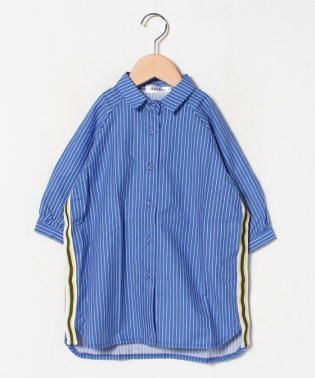 サイドラインシャツワンピース