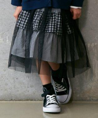 チュール付スカート