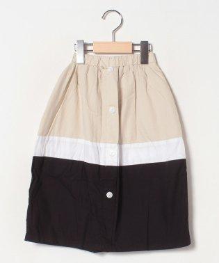 配色ボリュームスカート