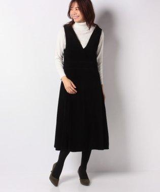 リブベロアジャンパースカート