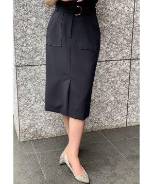 【セットアップ対応商品】ダブルクロスアウトポケットタイトスカート