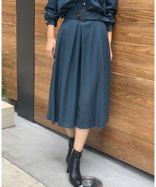 【セットアップ対応商品】【TV着用】ワイドベルトタックフレアスカート