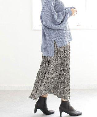 レオパードプリーツスカート