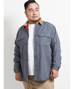 【大きいサイズ】グランバック/GRAND-BACK デニム衿裏ネルチェック長袖シャツ
