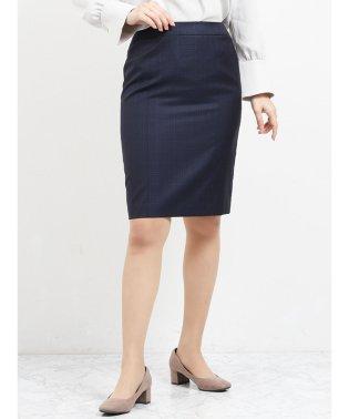 レノマ ファム/renoma FEMME ウォッシャブルセットアップタイトスカート 紺チェック