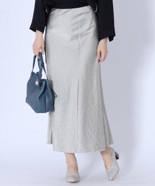 [Aga]メタリックロングスカート