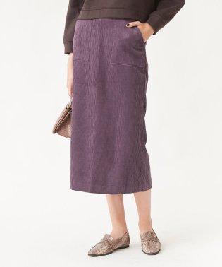 ウエストバックゴムコーデュロイタイトスカート