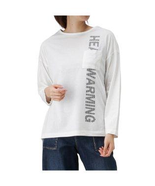 T-GRAPHICS ティーグラフィックス ドルマン ポケット付き 長袖Tシャツ 90306NM
