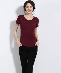 シームレスインナー[COOL] インナー レディース シームレス 切りっぱなし U型Teeシャツ Tシャツ 通気 吸湿 ストレッチ 伸縮性 ストレスフリー 薄手