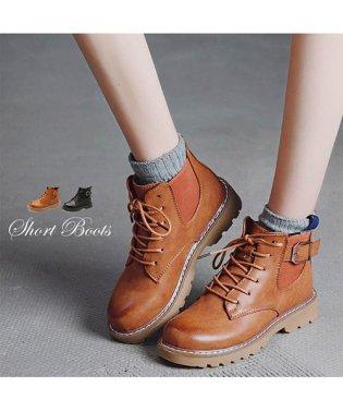 ショート ブーツ レディース 靴 ブーティー 裏起毛 レースアップ 秋冬 韓国ファッション