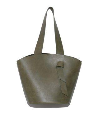 レザ-バケットバッグ