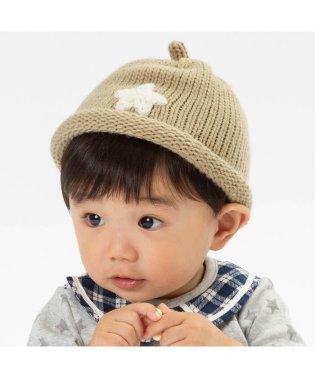 ベビー星モチーフ付きどんぐりニット帽子