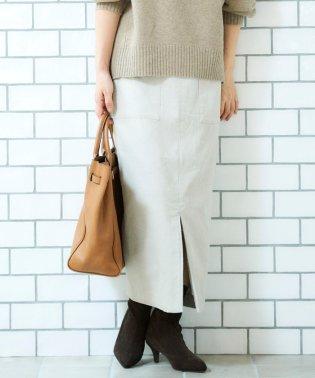 コーデュロイロングタイトスカート