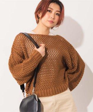 WEGO/メッシュセーター