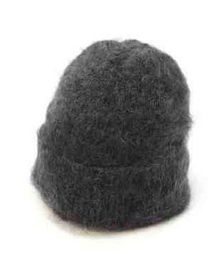 モヘヤ混ファーリーニット帽