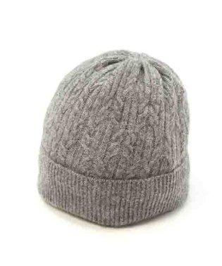 ラクーンケーブル編みニット帽