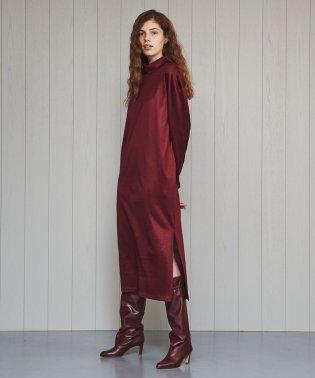 <H>SHINY DROP HIGH NECK DRESS/ワンピース