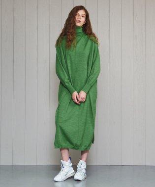 <H>WOOL TURTLE NECK DRESS/ワンピース