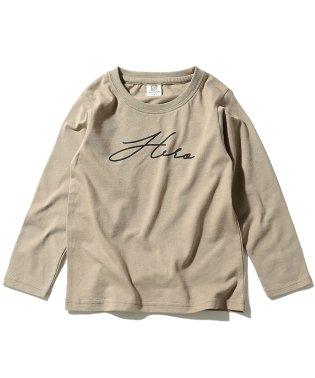 デビラボ ロゴプリント長袖Tシャツ