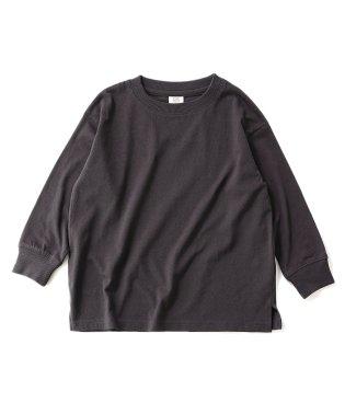 ビッグシルエット袖リブ長袖Tシャツ