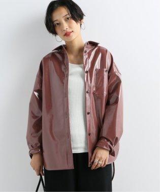 【NEU】パテントレザーシャツブルゾン