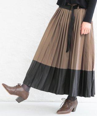 『n'Orバイカラープリーツスカート』