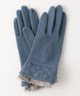 [タッチパネル対応]手袋 CS SP/ラビットファーキルティング グローブ