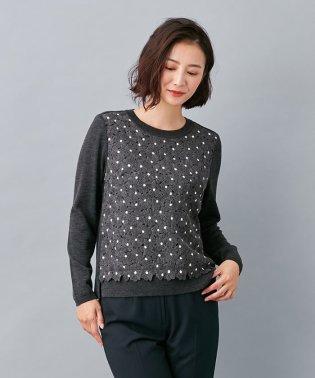 フラワー刺繍セーター