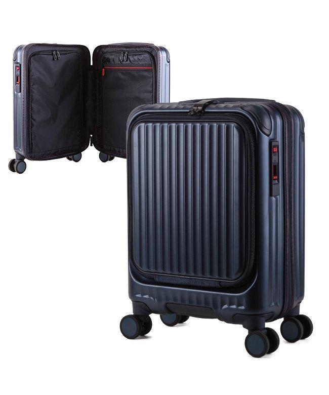 (KABANNOSELECTION/カバンノセレクション)カーゴ エアレイヤー スーツケース 機内持ち込み フロントオープン SSサイズ/22L ストッパー機能 CARGO AiR LAYER cat235ly/ユニセックス ブルー