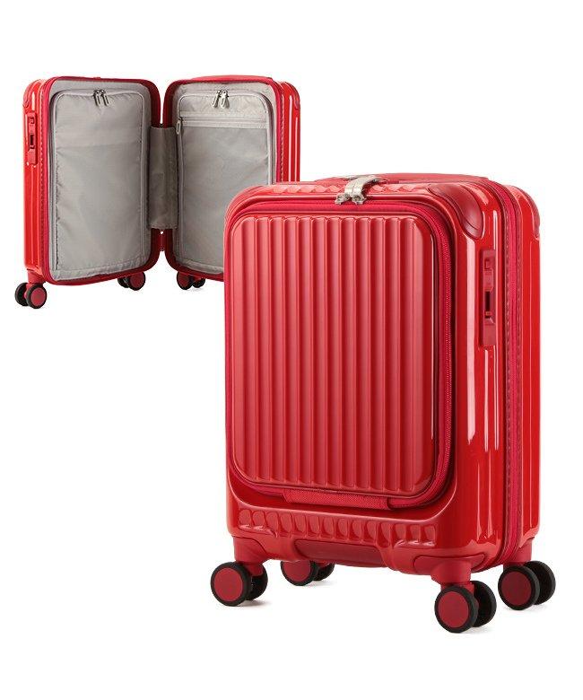 (KABANNOSELECTION/カバンノセレクション)カーゴ エアレイヤー スーツケース 機内持ち込み フロントオープン SSサイズ/22L ストッパー機能 CARGO AiR LAYER cat235ly/ユニセックス レッド