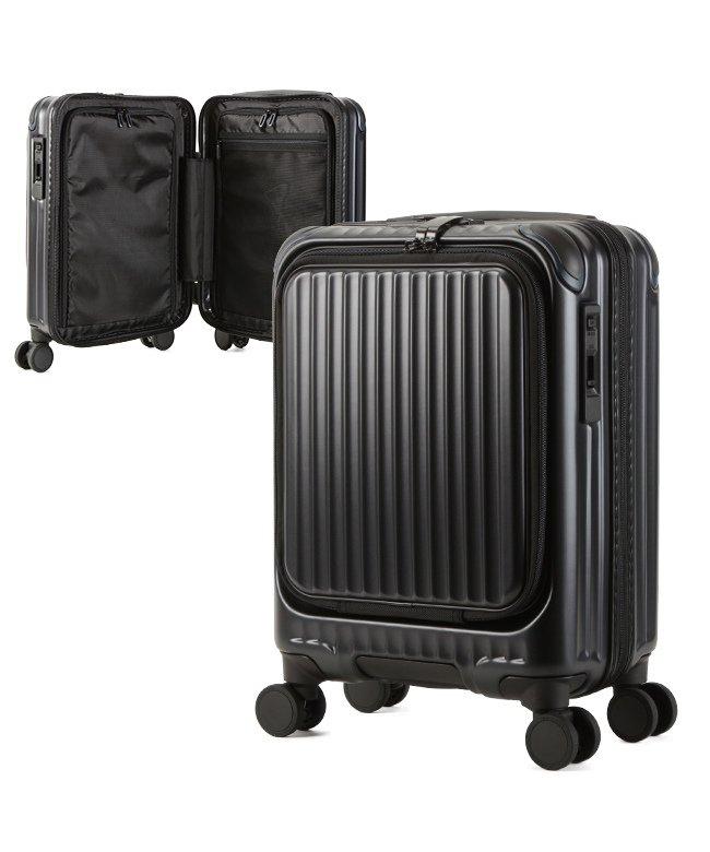 (KABANNOSELECTION/カバンノセレクション)カーゴ エアレイヤー スーツケース 機内持ち込み フロントオープン SSサイズ/22L ストッパー機能 CARGO AiR LAYER cat235ly/ユニセックス ブラック