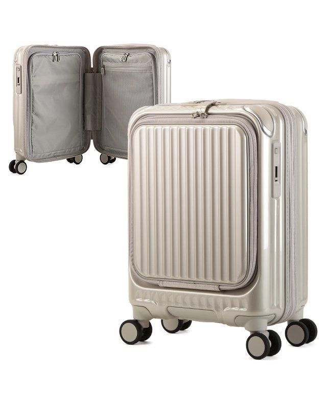 (KABANNOSELECTION/カバンノセレクション)カーゴ エアレイヤー スーツケース 機内持ち込み フロントオープン SSサイズ/22L ストッパー機能 CARGO AiR LAYER cat235ly/ユニセックス ゴールド