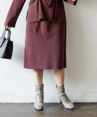 スリットニットタイトスカート
